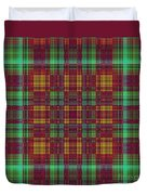 Mandoxocco-wallpaper-red-green Duvet Cover