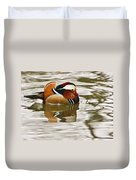 Mandrin Duck Going For A Swim Duvet Cover