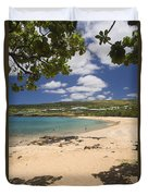 Manele Bay Duvet Cover
