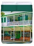 Mangia Mangia Pasta Market And Cafe On Key West Florida Duvet Cover