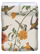 Mango Humming Bird Duvet Cover