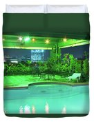Mango Park Hotel Roof Top Pool Duvet Cover