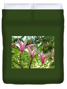 Mangolia Tree Flowers Art Prints Pink Magnolias Baslee Troutman Duvet Cover