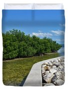 Mangroves Rocks And Ocean Duvet Cover