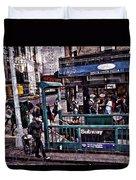 Manhattan 14th Street Duvet Cover