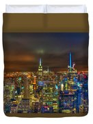 Manhattan At Night 355 Duvet Cover