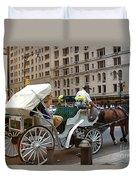 Manhattan Buggy Ride Duvet Cover