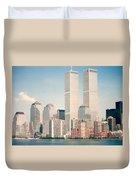 Manhattan Circa 1990 Duvet Cover