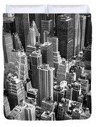 Manhattan In Monochrome. Duvet Cover