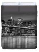 Manhattan Night Skyline Iv Duvet Cover