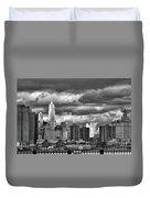 Manhattan Nyc Storm Clouds Cityview Duvet Cover