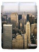 Manhattan Skyline - New York City Duvet Cover