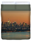Manhattan Twilight I Duvet Cover