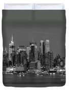 Manhattan Twilight Iv Duvet Cover by Clarence Holmes
