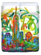 Manhattan Twirl Duvet Cover