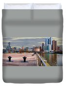 Manhattan West Side Panorama Duvet Cover