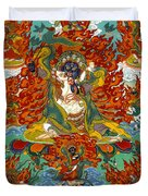 Maning Mahakala With Retinue Duvet Cover