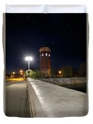 Manistique Water Tower Big Dipper -2293 Duvet Cover