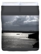 Manly Ferry And Storm Clouds Duvet Cover
