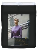 Mannequin In The Passage Duvet Cover
