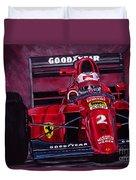 Mansell Ferrari 641 Duvet Cover