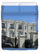 Mansion At The Beach Duvet Cover