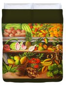 Manuel And His Fruit Stand Duvet Cover