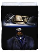 Many Hats One Collar Duvet Cover
