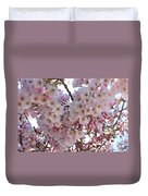Many Pink Blossoms Duvet Cover