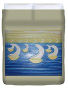 Many Sailing Boats On The Sea Duvet Cover