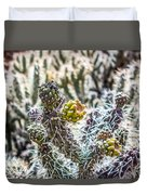Many Stems Of Poky Small Cactus In Desert Duvet Cover