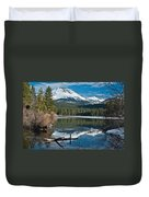 Manzanita Lake Reflects On Mount Lassen Duvet Cover