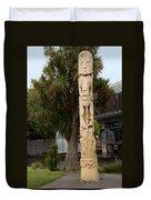 Maori Poupou Duvet Cover