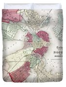 Map: Boston, 1865 Duvet Cover