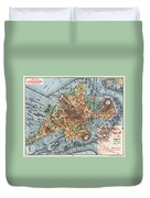 Map: Boston, C1880 Duvet Cover