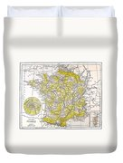 Map: France Duvet Cover
