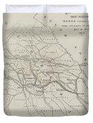 Map Illustrating General Sherman's March Through Georgia  Duvet Cover