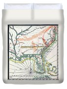Map: North America, 1742 Duvet Cover