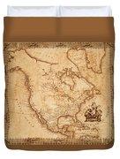 Map Of America 1800 Duvet Cover