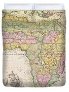 Map Of Africa Duvet Cover by Pieter Schenk