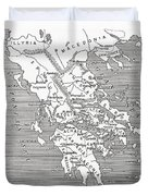 Map Of Ancient Greece Duvet Cover