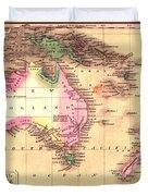 Map Of Australia 1828 Duvet Cover