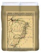 Map Of Brazil 1808 Duvet Cover