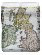 Map Of Britain Duvet Cover