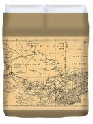 Map Of Canada 1762 Duvet Cover