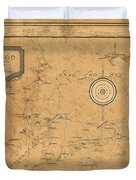 Map Of Cape Cod 1931 Duvet Cover