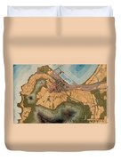 Map Of Cape Town 1947 Duvet Cover
