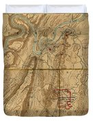 Map Of Chattanooga 1895 Duvet Cover