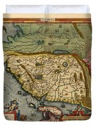 Map Of China 1590 Duvet Cover