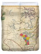 Map Of Colonial North America  Duvet Cover